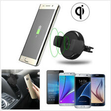 1x Qi Wireless Fast Charger Transmitter Car Air Vent Mount Holder For Cell Phone