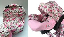 WHOLE CABOODLE CarSeat Canopy 9pc Set STRETCH Baby Car Seat Cover HeadrestPillow