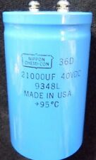 21000UF 40V LARGE CAN SCREW TOP CAPACITOR-RADIAL LEADS-NIPPON CHEMI-CON-NEW