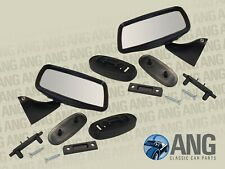 RANGE ROVER CLASSIC 3.5 V8 '70-'85 DOOR MIRRORS IN BLACK x 2 (LH & RH)
