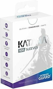 Ultimate Guard Katana Sleeves Standard Size 100-Count Choose Your Color