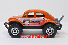 2008 Matchbox #91 Volkswagen Beetle 4x4 ORANGE/RINGED GEAR WHEEL/MINT