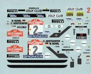 Fiat 131 Abarth - Winner Rally Sanremo 1980 - Walter Rohrl - Decal
