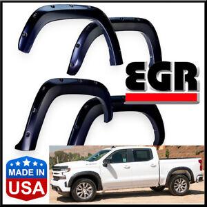 EGR 2019-2020 Chevy Silverado 1500 Bolt-On Look Matte Black Fender Flares