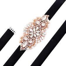 Handmade Crystal Beaded Bridal Sash Belt Rhinestone Wedding Accessories Belts