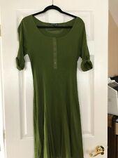 LRL RALPH LAUREN DRESS WAFFLE KNIT SLEEVE  GREEN SIZE L