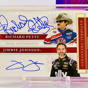 1/1🔥2020 National Treasures DUAL 7X Champion Signatures - PETTY & JOHNSON