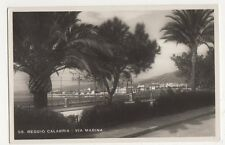 Italy, Reggio Calabria, Via Marina RP Postcard, B252