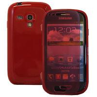 Housse Coque Portefeuille Livre ROUGE Samsung Galaxy S3 mini i8190/ i8200 VE