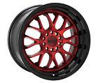 18x8.5 +35 F1R F21 5x114.3,5x120 Candy Red Wheels (Set of 4)