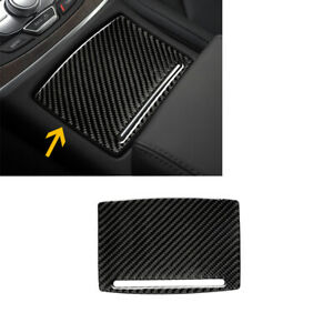 Fit For Audi A6 A7 2012-2018 Carbon Fiber Water Cup Holder Panel Sticker Trim