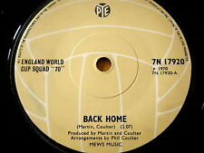 """ENGLAND WORLD CUP SQUAD '70' - BACK HOME  7"""" VINYL"""