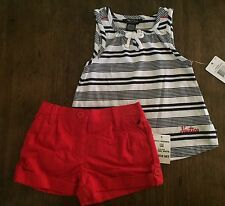 Nautica Red White And Blue Fourth Of July Outfit For 24 Month Girl