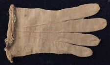 """Antique Vintage Childs Woven Single Glove Brown 4 3/4"""" Long 2 1/4"""" Wide Shabby"""