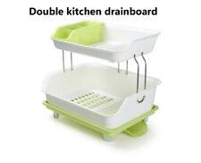 2 Tier Dryer Kitchen Dish Drying Rack Holder Home Sink Drainer
