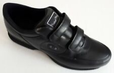 New Men's Naturstep M3725001 black leather walking shoe with twin straps 13M
