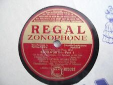 Foden's Motor Works Band 78RPM Record Kenilworth Part One Regal Zonophone AUST