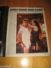 OGGI 1984/14=ADRIANO CELENTANO CLAUDIA MORI=CLIPPING RITAGLIO PHOTO FOTO=