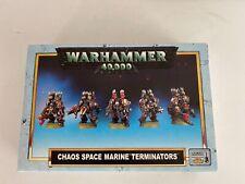 GW 40k Chaos Space Marines Chaos Terminators (1996 Edition) Box EX