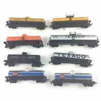 HO Scale Texaco STP Shell CN Oil Tanker Tank Freight Train Cars Lot of 8
