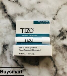 New in Box Tizo Tinted Lip Protection SPF 45 0.14 oz / 4.5g Water Resistant