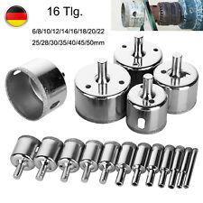 16x Diamantbohrer Hohlbohrer Lochsäge-Bohrkrone Glasbohrer Fliesenbohrer 6-50mm
