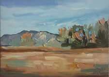Original Oil Painting, Listed Artist W. Holland 5x7 Inches Landscape Lot 1087