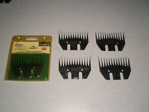 LOT of 4 SUNBEAM SHEARMASTER SUPER SHEAR COMBS AUSTRALIA 1 OSTER GRAZER USA