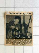 1957 12-year-old Christopher Gant Of London Making His Own Guitar