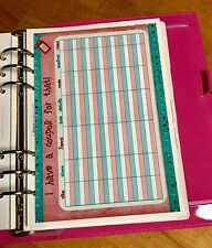 Coupon Wish List Two Sided Dashboard for use with Filofax A5