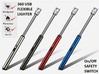 BBQ CANDLE KITCHEN FLEXIBLE LONG ELECTRIC/ARC LIGHTER Rechargeable USB Flameless