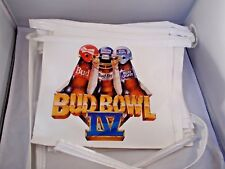 Budweiser Bud Bowl IV 24 Double Sided Flags 1991