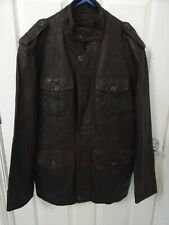 Men's M&S Autograph Brown Leather Jacket. Size Medium.