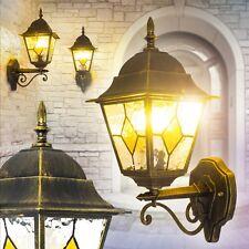 Klassische Wandleuchte Garten Antik Aussen Wand Leuchten Hof Lampen schwarz/gold