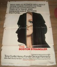 1968 The BOSTON STRANGLER 1 SHEET MOVIE POSTER TONY CURTIS SERIAL KILLER BIO