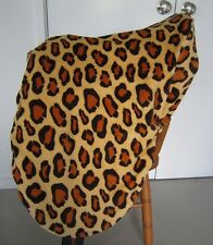 Horse Stock / Western / Swinging Fender Saddle cover FREE EMBROIDERY Leopard Ylw