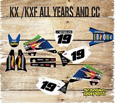 KAWASAKI KX KXF 65 85 125 250 450 Kit completo de gráficos-Completo Pegatina Kit-Calcomanías - 19