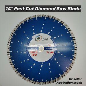 "14"" (350mm) Premium Speedy Laser welded diamond saw blade demo saw blade"