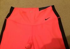 Womens Nike Tight Fit Capri 3/4 Pants XS Running Gym Fitness Cycling Pink RRP£40