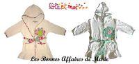 LOLA ET MOI - PROMO -60% - Peignoir Summer Flower à capuche - Neuf étiquette