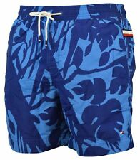 Tommy Hilfiger Men's Swim Trunks-Blue Tropical-S