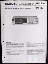 SABA HiFi 236 - Amplifier MI 480 Schaltbild Ersatzteilliste Service-Instruction