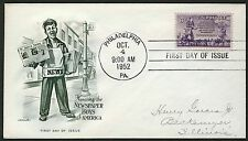 #1015 3c Newspaper Boys, Artmaster-Hand Cancel FDC **ANY 4=FREE SHIPPING**