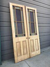 An 610 Pair antique Stripped queen Anne Double door 59 X 99 X 1 5/8�