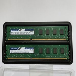 TIMETEC 16GB KIT (2 X 8GB) DDR3L-1600 UDIMM Desktop RAM 1600MHz • PC3L-12800