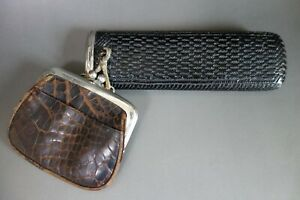Japanese glasses case coin bag pouch to carry vintage mid Showa #1