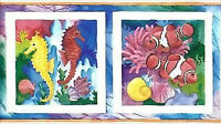 Brilliant Fish in White Frames Wallpaper Border PB228B