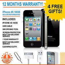 Apple iPhone 4S - 16 GB - Black (Factory Unlocked) Smartphone