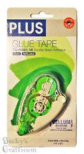 """PLUS Glue Tape Adhesive Roller Vellum 1/3""""x52' TG-610BC-VE 8.4mmx16m"""