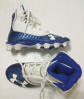 Under Armour UA Highlight RM JR. Youth Blue Football Cleats Shoe Size 4Y